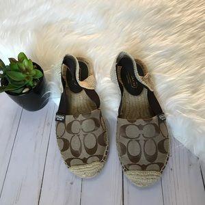 COACH- Slingback Espadrilles